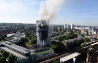 Londra'da 24 katlı binadaki yangının bozuk...