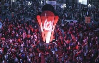 """Ankara'daki """"Milli Birlik Yürüyüşü""""..."""