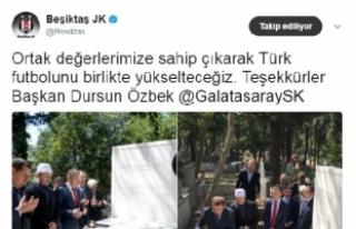 Beşiktaş'tan Dursun Özbek'e teşekkür