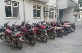 Çalıntı 166 motosiklet ele geçti: 64 gözaltı