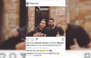 'Come To Beşiktaş Diego Costa'yı mesaja...