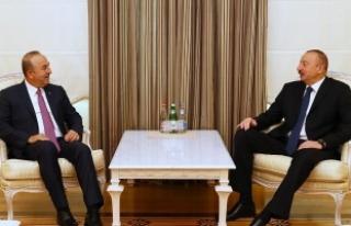 Dışişleri Bakanı Çavuşoğlu, Aliyev ile görüştü