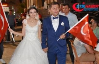 Düğünden çıkıp nöbete koştular