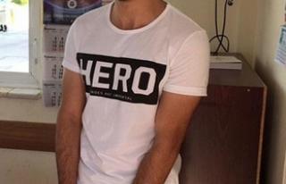 Erzurum'da 'Hero' yazılı tişört...