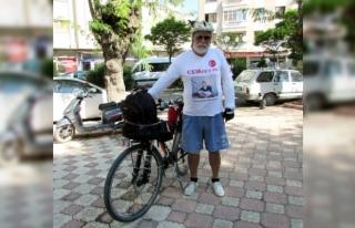 Kanserden kaybettiği oğlu için bisikletle Türkiye'yi...