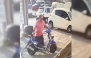 Polis bu görüntüden motosiklet hırsızını arıyor