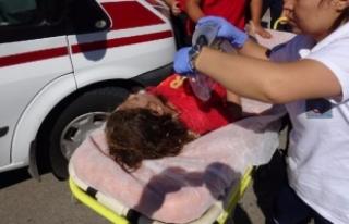 Sulama kanalına düşen 2 kız kurtarıldı