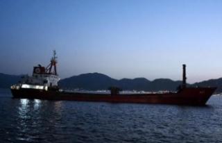 Yunanlıların saldırdığı kuru yük gemisi Marmaris'te