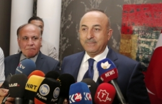 Çavuşoğlu Erbil'de basın toplantısı düzenledi