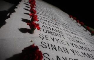 Marmara Depremi'nde hayatını kaybedenler dualarla...