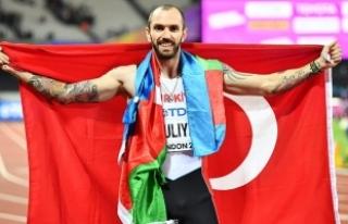 Milli atlet Ramil'den Elmas Ligi'nde 1.'lik...