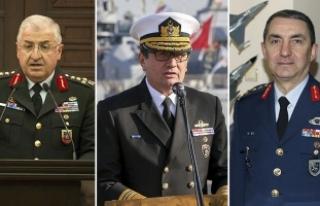 Yeni kuvvet komutanları belli oldu