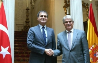 AB Bakanı Çelik İspanya Dışişleri Bakanı Dastis...