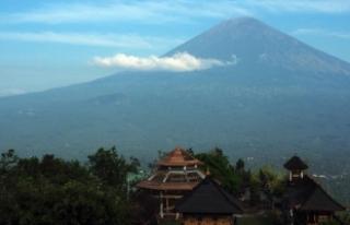 Agung Yanardağı'nın faaliyete geçtiği Bali...