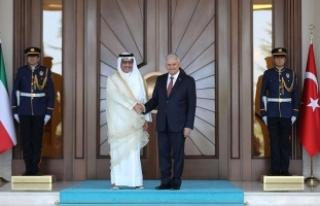 Başbakan Yıldırım, Kuveyt Başbakanını resmi...