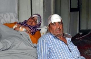 Hırsızlar, Suriye'den kaçan Türkmen çifti...