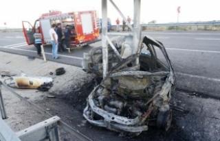 Polis meslek yüksekokulu öğrencisi, kazada yanarak...