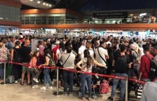 İstanbul Sabiha Gökçen'de yolcu sayısı yüzde...