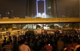 15 Temmuz Şehitler Köprüsü'ndeki olaylara...
