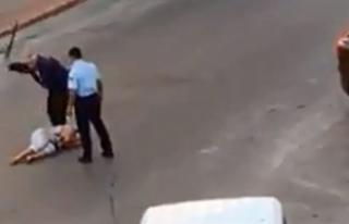 Antalya'da kadını darbeden iki polisten biri...