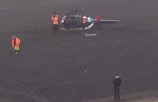 Avrupa Ralli Şampiyonası'nda helikopter düştü!