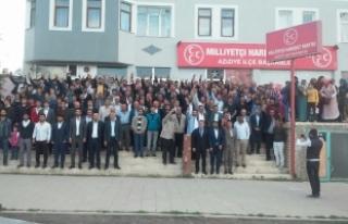 Aziziye'de 400 kişi MHP'ye katıldı