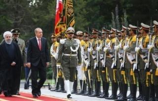 Cumhurbaşkanı Erdoğan, İran Cumhurbaşkanı Ruhani...