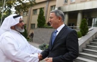 Genelkurmay Başkanı Akar, Katar Genelkurmay Başkanı...