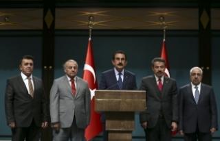 Erdoğan'la görüşen kanaat önderlerinden...