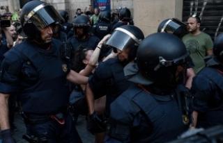 Katalonya'daki referandum müdahalesinde 337...