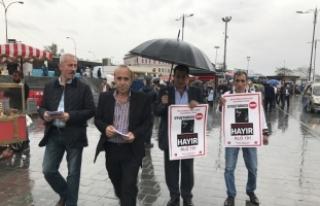 MHP üyeleri uyuşturucu karşıtı broşür dağıttı