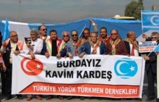 Türkmenler Habur'da Kerkük için eylem yaptı