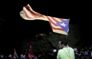 """Yunanistan'da """"Katalonya'ya bağımsızlık""""..."""