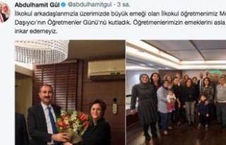 Adalet Bakanı Gül'den ilkokul öğretmenine...