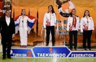 Aleyna Akçay, tekvandoda Balkan Şampiyonu oldu