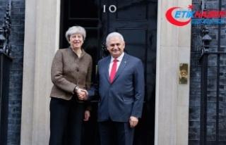 Başbakan Yıldırım ile İngiltere Başbakanı May...