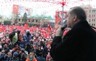 Cumhurbaşkanı Erdoğan: 2020'ye kadar Gümüşhane...