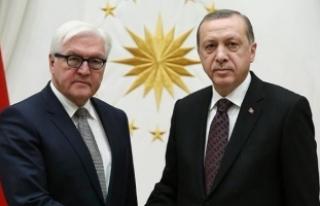 Cumhurbaşkanı Erdoğan, Steinmeier ile Suriye'yi...