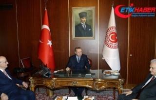 Erdoğan, Kahraman ve Yıldırım Mecliste bir araya...
