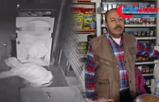 Hırsız borç defterini yaktı, market sahibine yumruk...