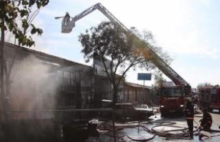 İkitelli Sanayi Sitesi'nde yangın