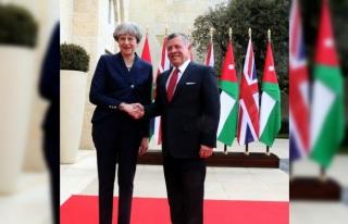 İngiltere Başbakanı May- Ürdün Kralı Abdullah...