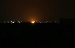 İsrail'in Suriye'ye hava saldırısı düzenlediği...