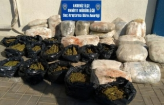 Mersin'de 126 kilo esrar ele geçirildi