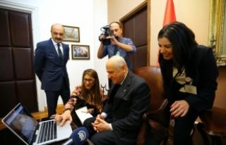 """MHP Genel Başkanı Bahçeli, AA'nin """"Yılın..."""