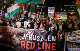 ABD'nin Kudüs kararı Chicago'da protesto...
