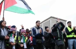 Belçika'da Kudüs protestosu düzenledi