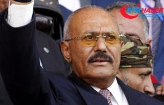 Eski Yemen Cumhurbaşkanı Salih'in cenazesi...