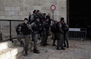 İsrail işgal altındaki Doğu Kudüs sokaklarında...