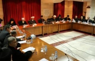 Lübnan'daki Müslüman ve Hristiyan din adamlarından...